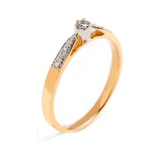 Pierścionek zaręczynowy Royal z diamentami nr RQ 190M