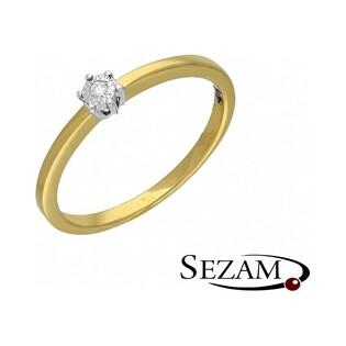 Pierścionek zaręczynowy Royal Magic z diamentem nr RQ 402M