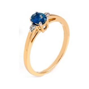 Pierścionek zaręczynowy z diamentami i szafirem nr RQ 51MC Y78/SA