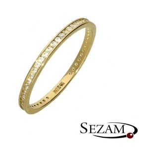 Pierścionek złoty rings z cyrkoniami nr AR 0169 Au 585