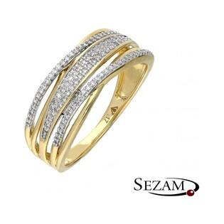 Pierścionek zaręczynowy z diamentami nr KU 107365 motyw Venezia