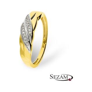 Pierścionek zaręczynowy z diamentami nr KU 107252