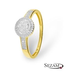 Pierścionek zaręczynowy z diamentami nr KU 106747 motyw Sweet