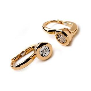 Kolczyki złote z diamentami nr RQ 303ME Sezam - 1
