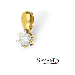 Zawieszka złota z diamentem nr RQ 204MP