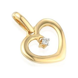 Serduszko  złote serca z diamentem  nr AW 69331Y, 14 karat
