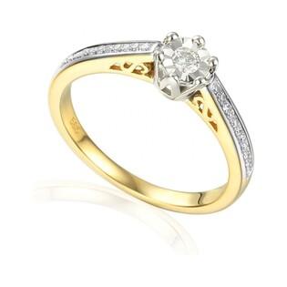 Pierścionek złoty z diamentami nr AW 53275 YW Royal Magic