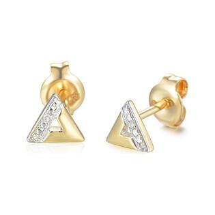 Kolczyki złote z diamentami nr AW 69368 Y Au 585 Sezam - 1