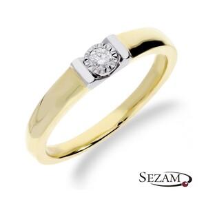 Pierścionek zaręczynowy z diamentem nr KU 65502 Au 585 Victoria