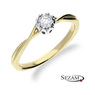 Pierścionek zaręczynowy z diamentem nr KU 5271 Au 585 Soliter Magic
