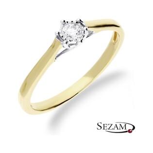 Pierścionek zaręczynowy z diamentem  Royal Magic nr RQ 518/10M Au 585