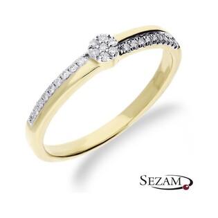 Pierścionek zaręczynowy z diamentami Anemon nr RQ 525M Au 585