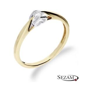 Pierścionek zaręczynowy z diamentem Amado nr RQ 527/10 Au 585