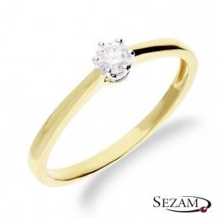 Pierścionek zaręczynowy z diamentem Royal nr RQ 524/15M Au 585