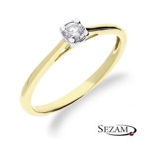 Pierścionek zaręczynowy z diamentem Soliter nr RQ 522/15M Au 585