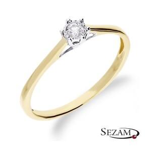 Pierścionek zaręczynowy z diamentem Royal Magic nr RQ 518/08M Au 585