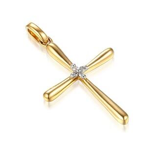 Krzyżyk złoty z diamentami nr AW 34336 Y Sezam - 1