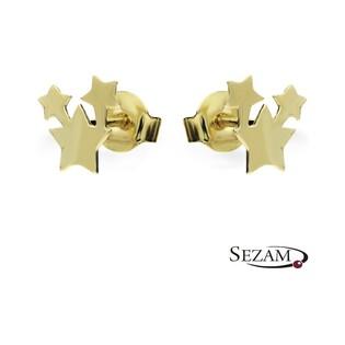 Kolczyki złote gwiazdy MZ ES465 Au 333