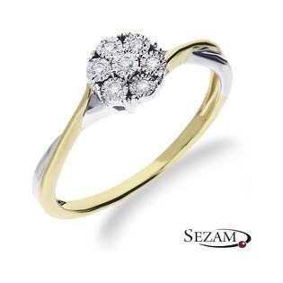 Pierścionek zaręczynowy z diamentami Sweet nr RO K120 Au 585