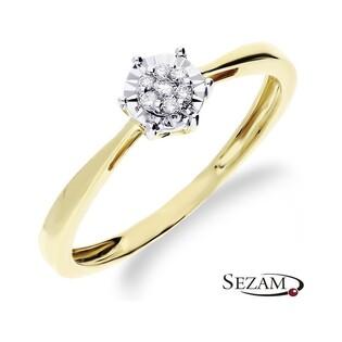 Pierścionek zaręczynowy z diamentami LEMON Magic nr RO A101 Au 585