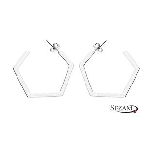Kolczyki srebrne geometryczne nr ZJ 044-GD