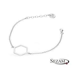 Bransoleta srebrna figura geometryczna nr ZJ 044-GD