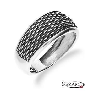 Pierścionek srebrny z plecionką nr SZ SZ076
