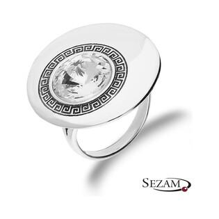 Pierścionek srebrny koło z cyrkonią nr SZ SZ051