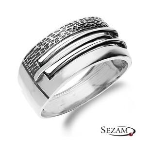 Pierścionek srebrny prostokąt nr SZ SZ025