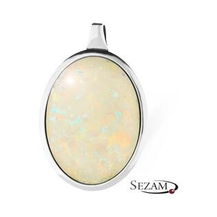 Zawieszka srebrna owal z opalem nr SZ SZ122