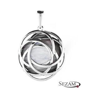 Zawieszka srebrna z imitacją masy perłowej nr UN 636 j.oksyda