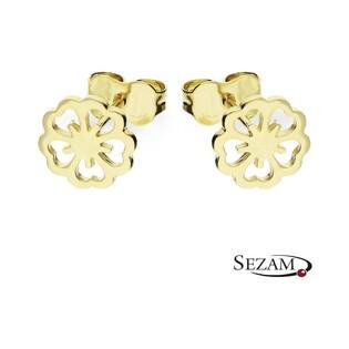 Kolczyki złote kwiatki ażurowe nr AR 12567-DC Au 333