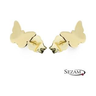Kolczyki złote motylki nr MZ T23-E-0218-5-LZ Au 333