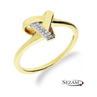 Pierścionek zaręczynowy z diamentami nr KU 108660