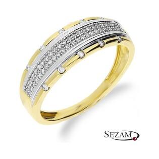 Pierścionek zaręczynowy z diamentami nr KU 108332 Au 585 LINE