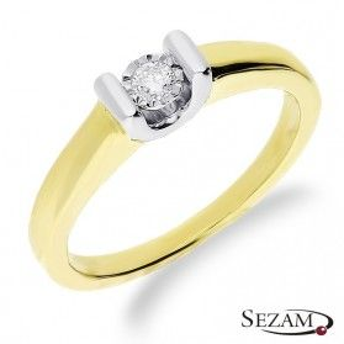 Pierścionek zaręczynowy Victoria z diamentem nr KU 437X Au 585