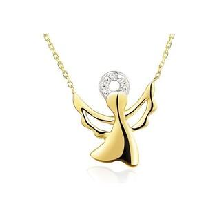 Naszyjnik złoty aniołek z diamentami nr AW 07100 Y