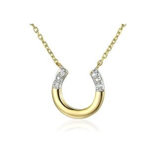 Naszyjnik złoty podkowa z diamentami nr AW 07101 Y Sezam - 1