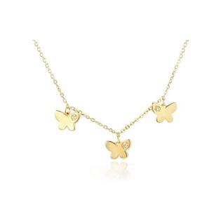 Naszyjnik złoty motylki z diamentami nr AW 07096 Y
