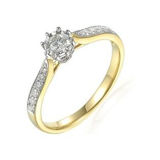 Pierścionek złoty zaręczynowy Soliter Magic nr AW 71408 YW