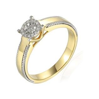 Pierścionek złoty zaręczynowy SWEET z diamentami nr AW 71827 YW