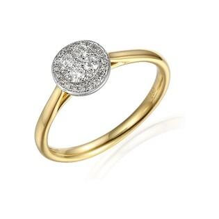 Pierścionek złoty zaręczynowy MIRAGE z diamentami nr AW 59438 YW