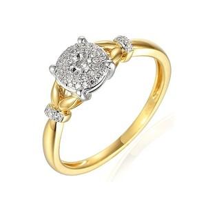 Pierścionek złoty z diamentami SWEET AW 71620 YW próba 585 Sezam - 1