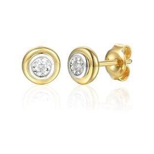 Kolczyki złote Magic z diamentami nr AW 69378 YW Sezam - 1