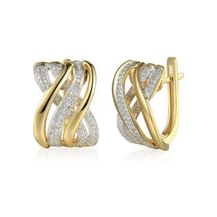Kolczyki złote z diamentami nr AW 67880 YW Sezam - 1