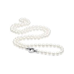 Naszyjnik srebrny z perłami shell nr VJ 06-biała/10mm