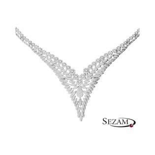 Komplet srebrny diadem wysadzany cyrkoniami nr A0 AUR 020