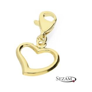 Charms złote serce gładkie nr CI 675 Au 333