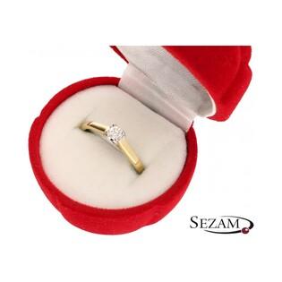 Pierścionek złoty z diamentem Amado nr RS RS0359 próba 585
