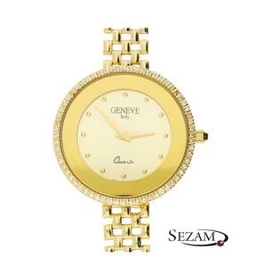 Zegarek złoty damski Geneve z cyrkoniami nr 163 Au 585